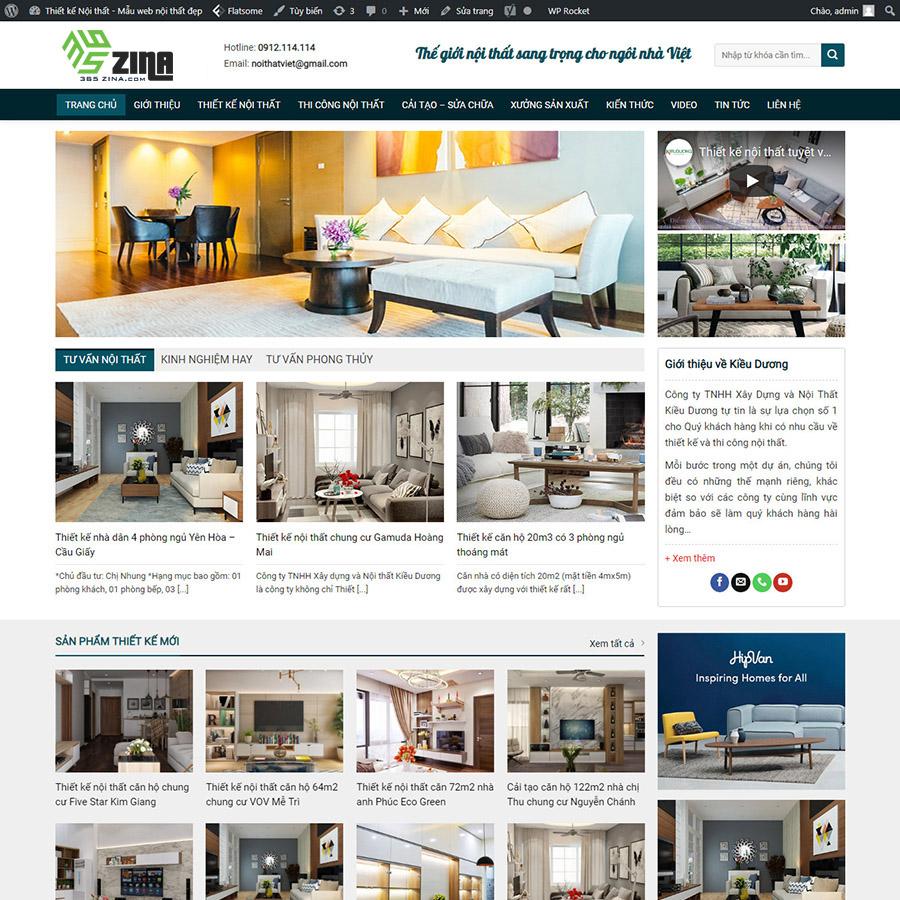 Thiết kế website kiến trúc - Thiet ke web Da Nang